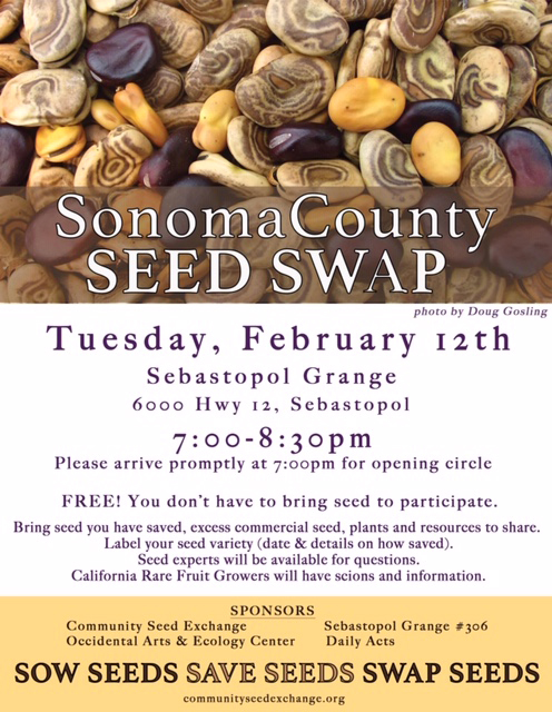 Sonoma County Seed Swap Feb. 12, 2019
