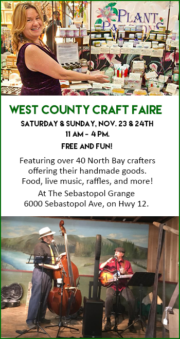 West County Craft Fair at Sebastopol Grange