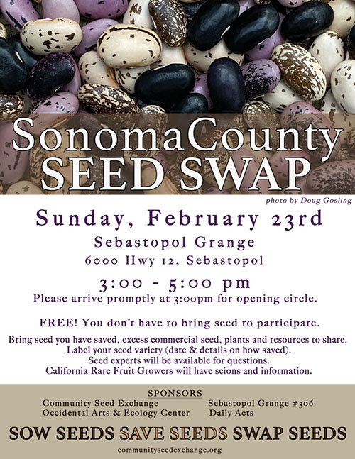 Sonoma County Seed Swap 2020