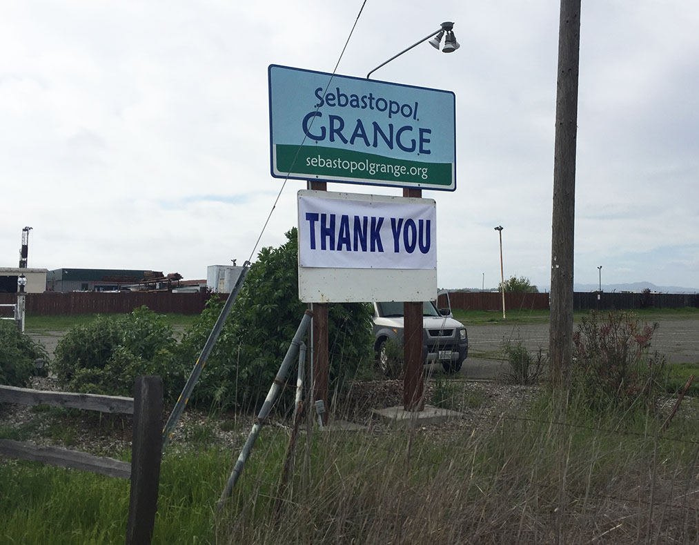 Thank you from the Grange