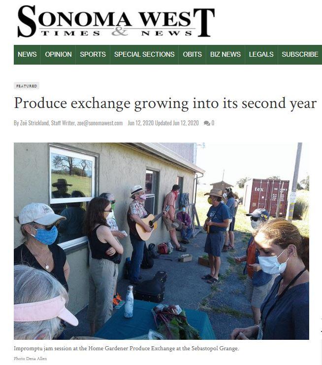 Garden Exchange in Sonoma West