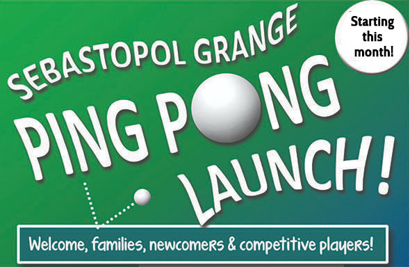 Ping Pong at the Grange 2021